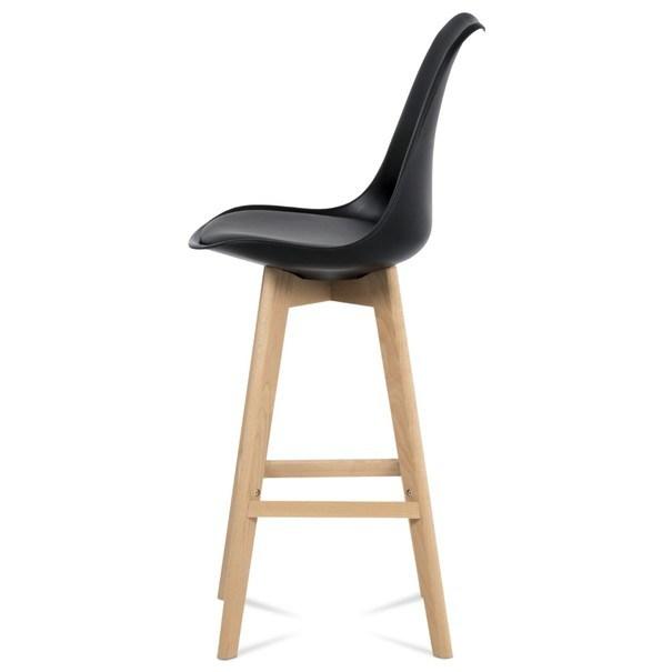 Barová stolička JULIETTE čierna/buk 6