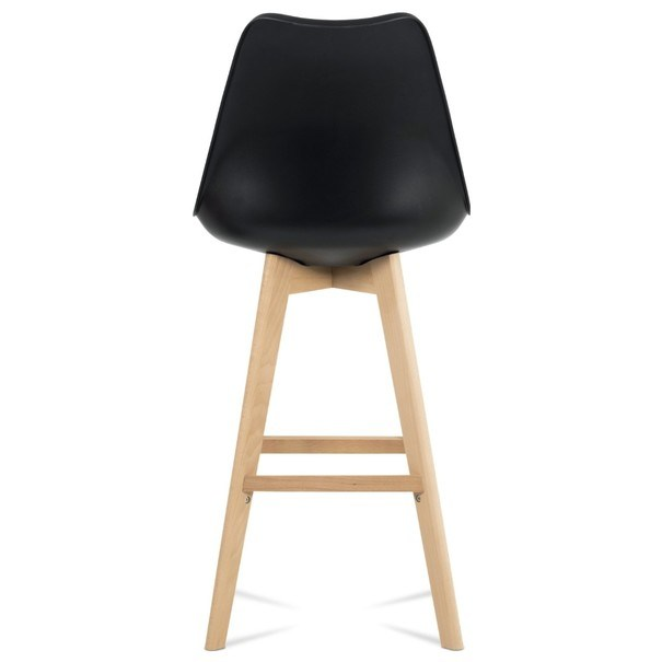 Barová stolička JULIETTE čierna/buk 7