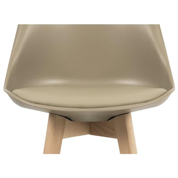Barová stolička JULIETTE hnedá/buk 2