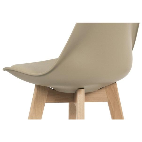 Barová stolička JULIETTE hnedá/buk 4
