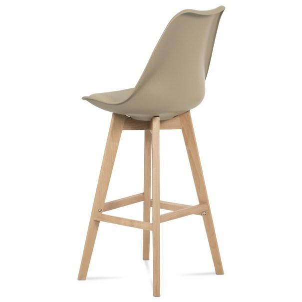 Barová stolička JULIETTE hnedá/buk 5