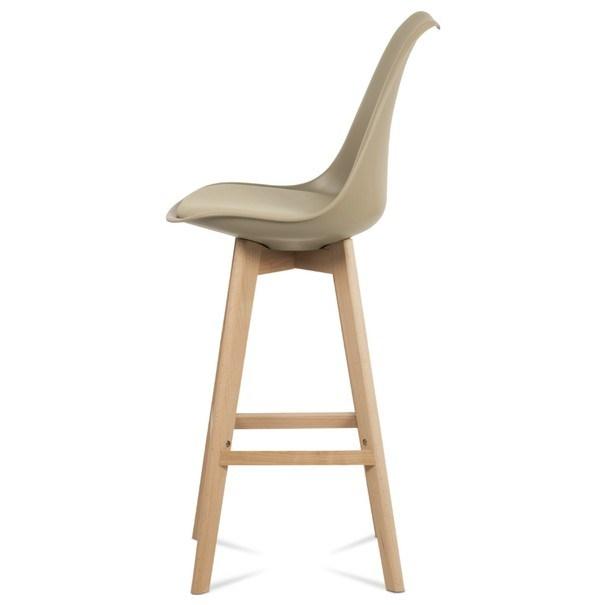 Barová stolička JULIETTE hnedá/buk 6