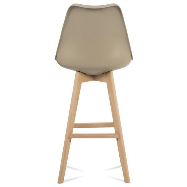 Barová stolička JULIETTE hnedá/buk 8