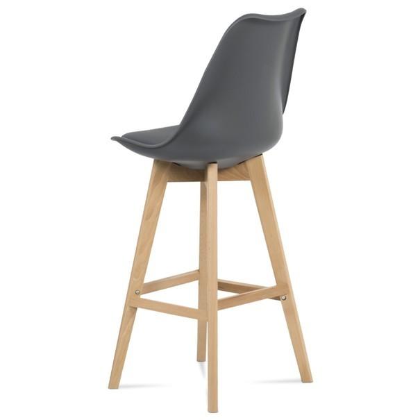Barová židle JULIETTE šedá/buk 2