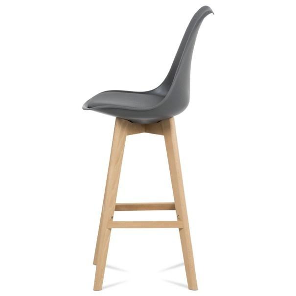 Barová židle JULIETTE šedá/buk 3