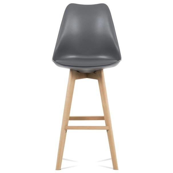 Barová židle JULIETTE šedá/buk 4