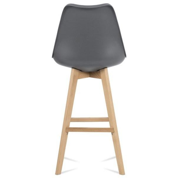 Barová židle JULIETTE šedá/buk 5