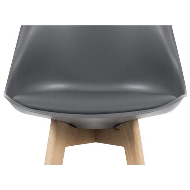 Barová židle JULIETTE šedá/buk 6