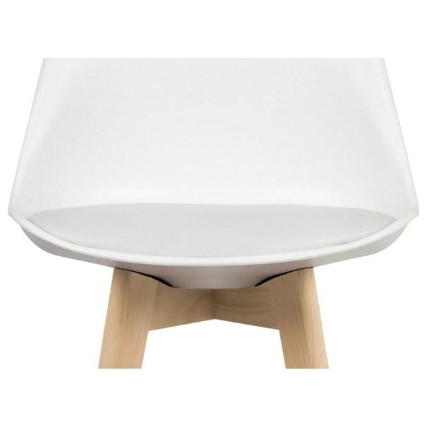 Barová stolička JULIETTE biela/buk 2