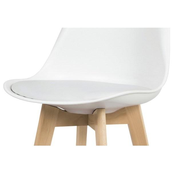 Barová stolička JULIETTE biela/buk 3