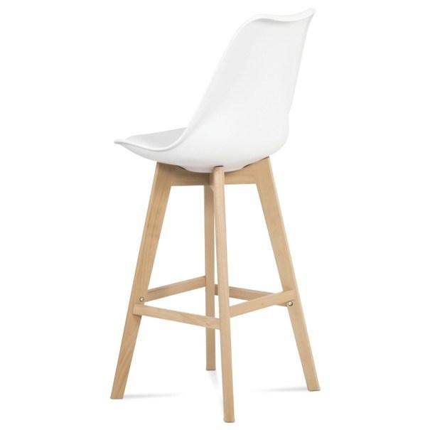 Barová stolička JULIETTE biela/buk 4