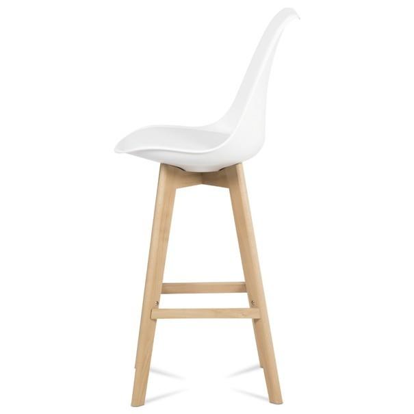 Barová stolička JULIETTE biela/buk 5