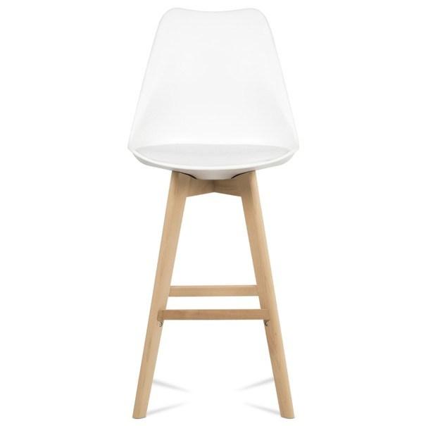 Barová stolička JULIETTE biela/buk 6