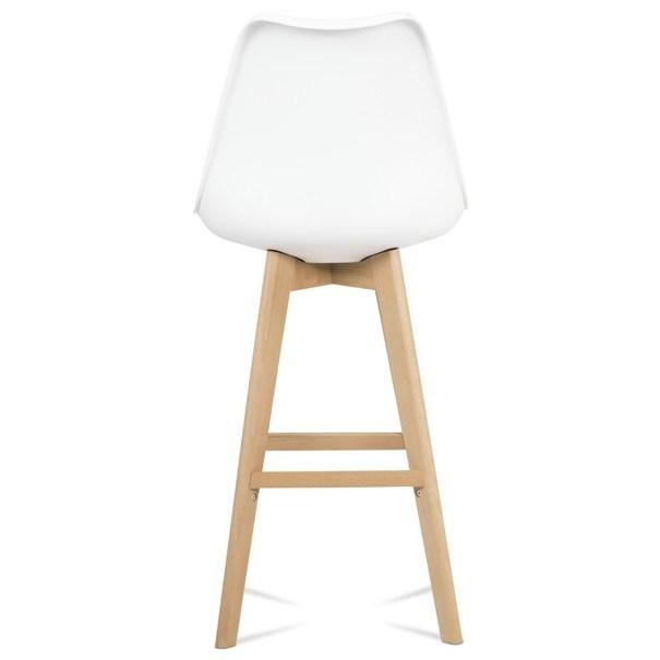 Barová stolička JULIETTE biela/buk 7