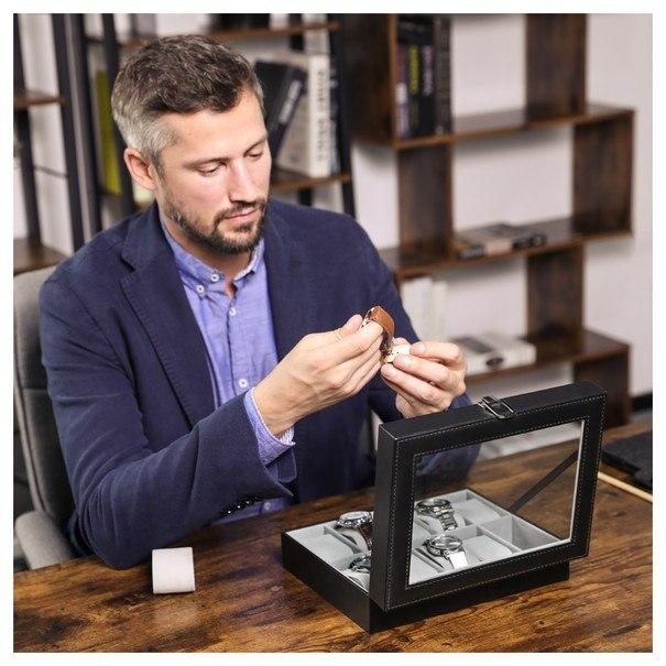 Krabička na hodinky JWB0 šedá 2
