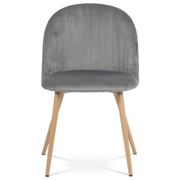 Jídelní židle KAISA dub/šedá 2
