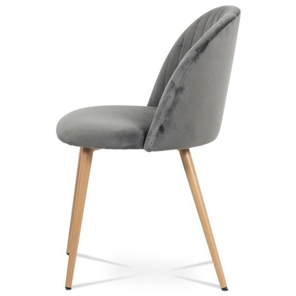Jídelní židle KAISA dub/šedá 3