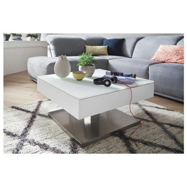 Konferenční stolek KALEB bílá 2