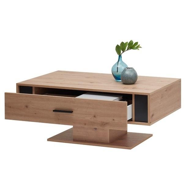 Konferenční stolek  KANADA  černá/dub artisan 3