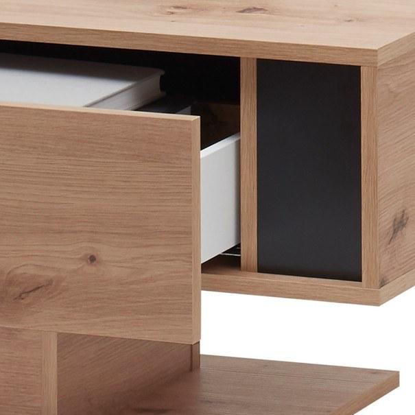 Konferenční stolek  KANADA  černá/dub artisan 5