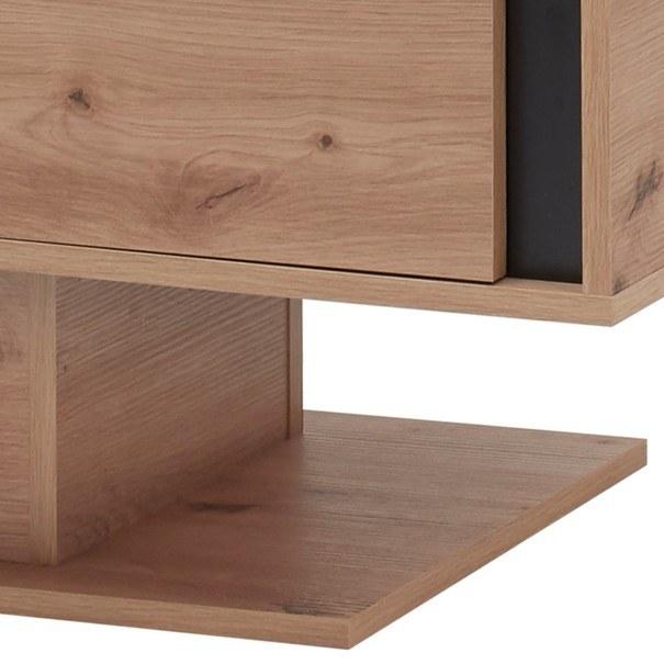 Konferenční stolek  KANADA  černá/dub artisan 6