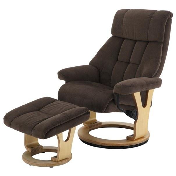 Relaxační křeslo s taburetem KASSEL hnědá 1