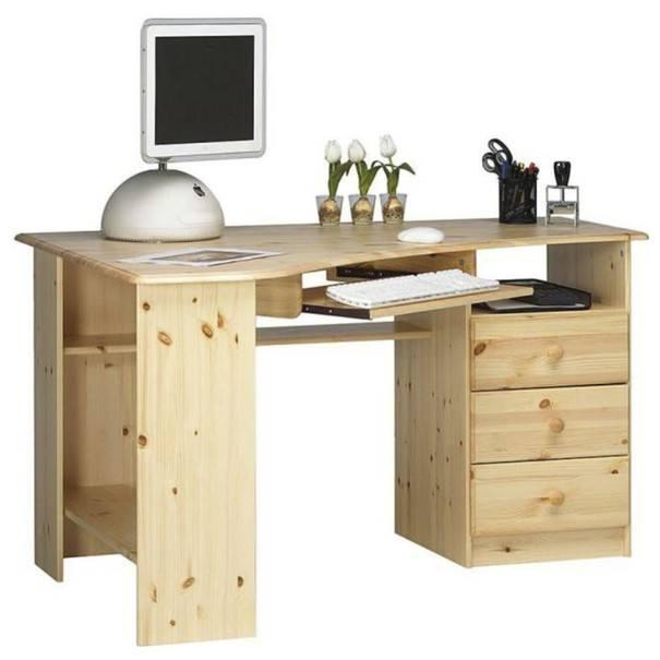 Rohový PC stôl KENT 279/19 borovica 1