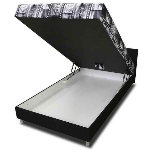 Postel KETI černobílá, 120x200 cm 2