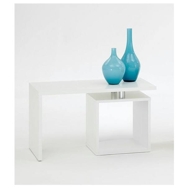 Přístavný stolek KLARA bílá 2