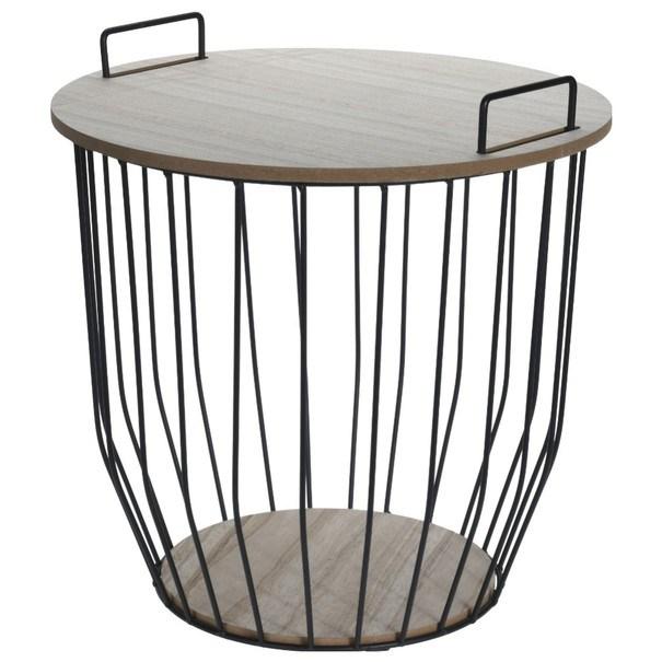 Odkladací stolík KOKI 1 čierna/prírodná 1