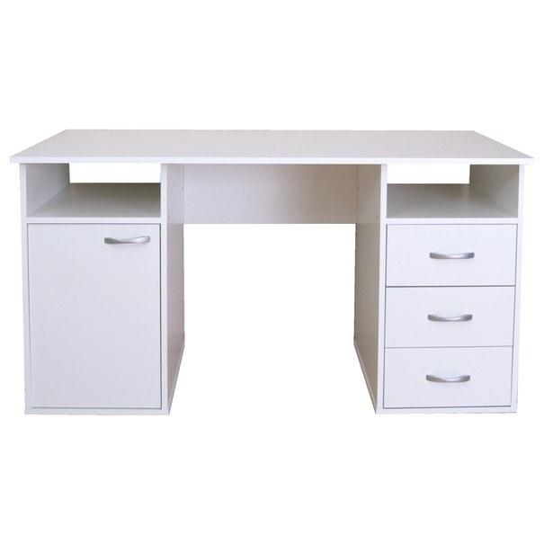 Písací stôl KUBA biela 1
