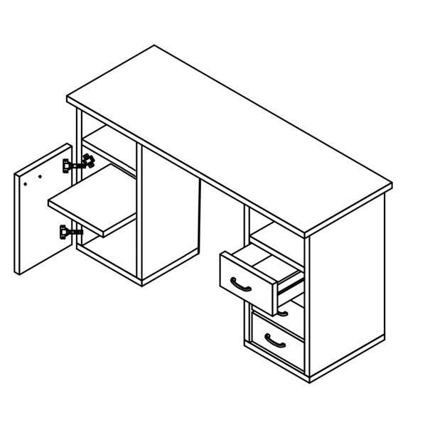 Písací stôl KUBA dub sanremo 3
