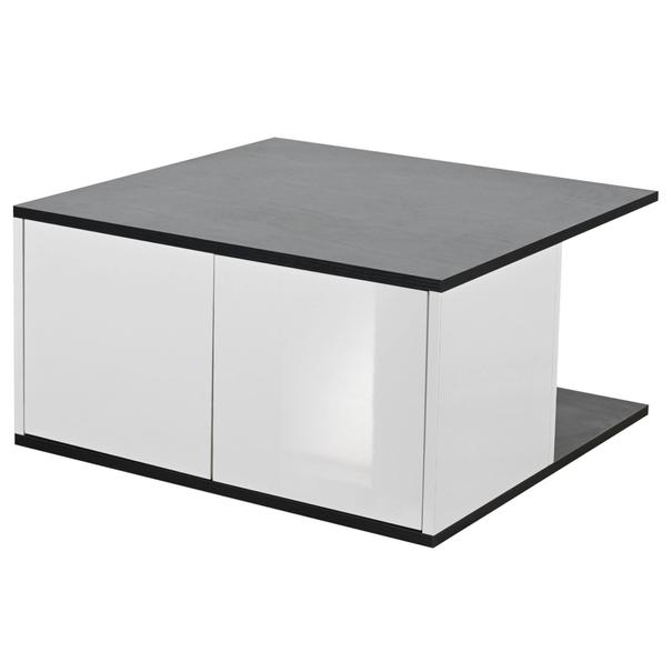 E-shop Konferenční stolky KUBUS dub černý/bílá vysoký lesk