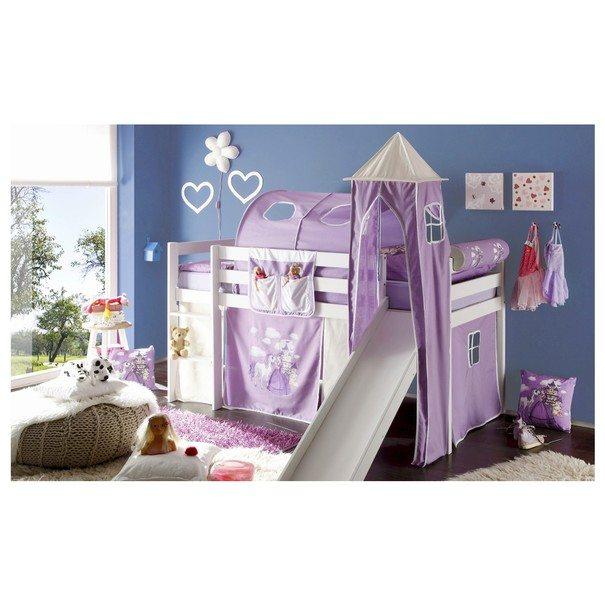 Textilní věž k posteli ARNIKA KŮŇ A PRINCEZNA lila/bílá 1