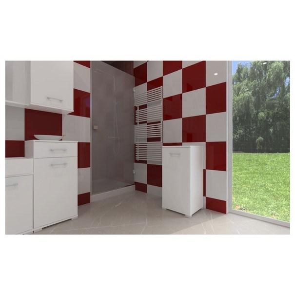 Prádelní skříňka s košem LARA II bílá 2