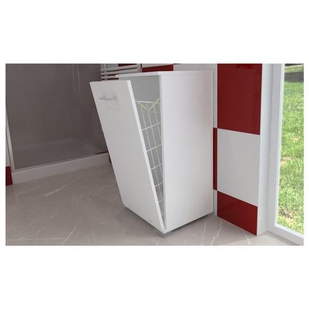 Prádelní skříňka s košem LARA II bílá 3