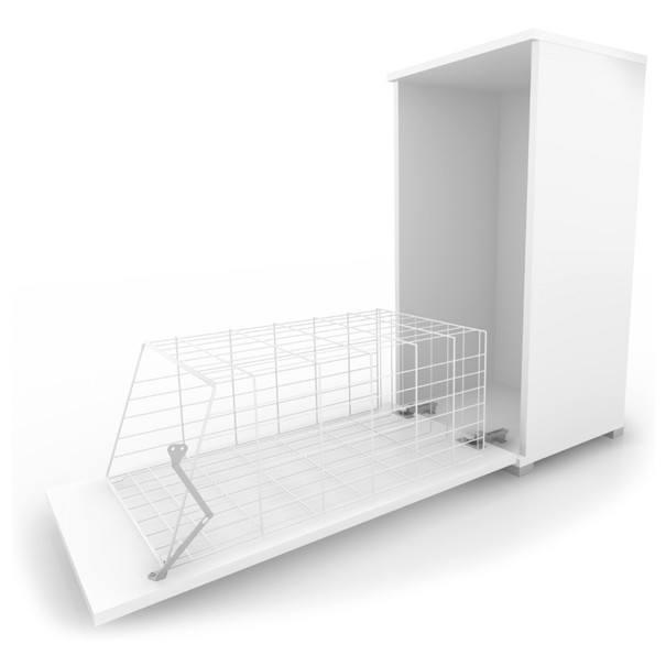 Prádelní skříňka s košem LARA II bílá 4