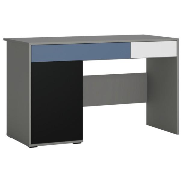 Písací stôl LASER modrá/sivá 1
