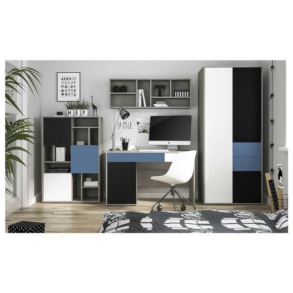 Písací stôl LASER modrá/sivá 2