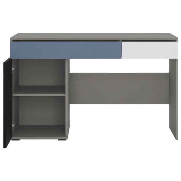 Písací stôl LASER modrá/sivá 3