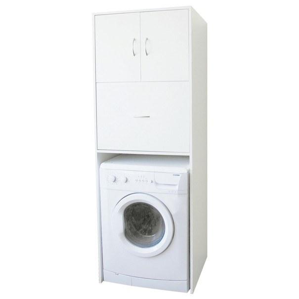 Skříň nad pračku LAVANDE bílá 1