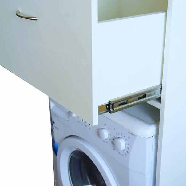 Skříň nad pračku LAVANDE bílá 3