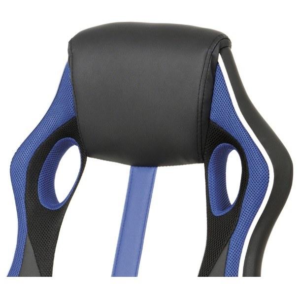 Kancelářská židle LAWRENCE modrá/černá/bílá 2