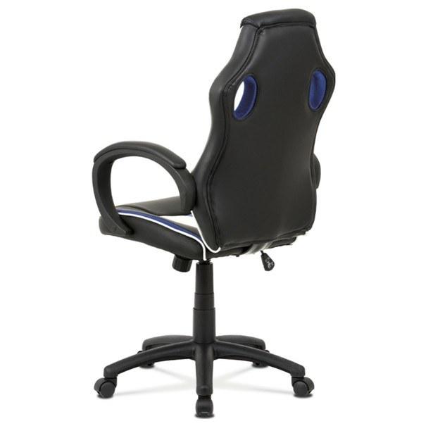 Kancelářská židle LAWRENCE modrá/černá/bílá 3