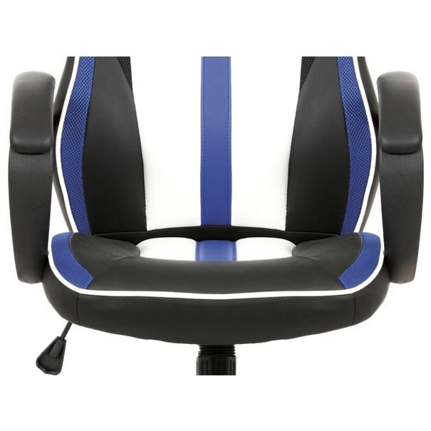 Kancelářská židle LAWRENCE modrá/černá/bílá 9