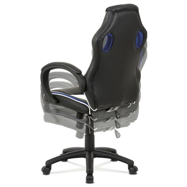 Kancelářská židle LAWRENCE modrá/černá/bílá 10