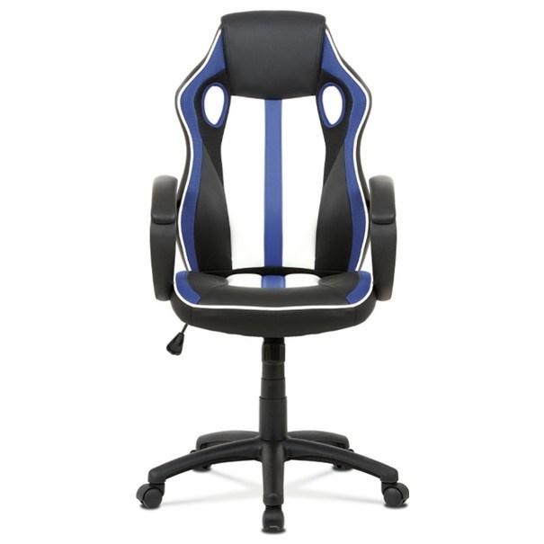 Kancelářská židle LAWRENCE modrá/černá/bílá 12