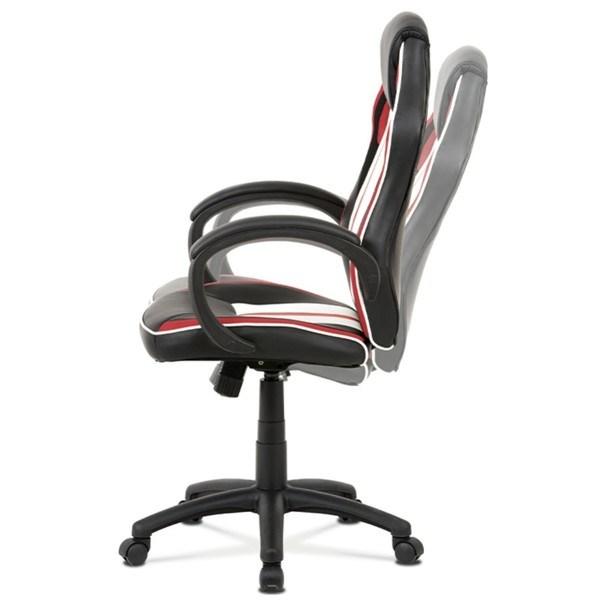 Kancelářská židle LAWRENCE červená/černá/bílá 3
