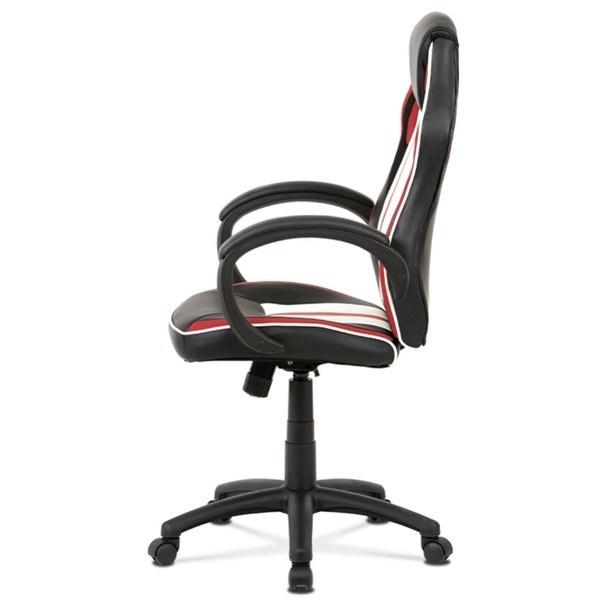 Kancelářská židle LAWRENCE červená/černá/bílá 6