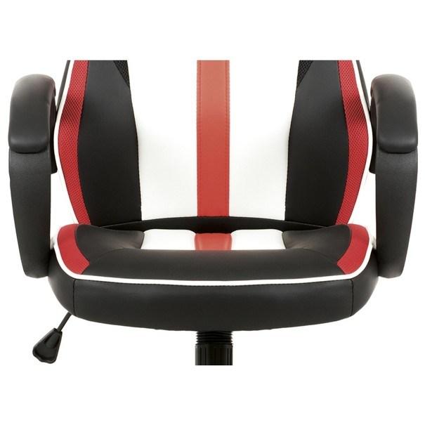 Kancelářská židle LAWRENCE červená/černá/bílá 12